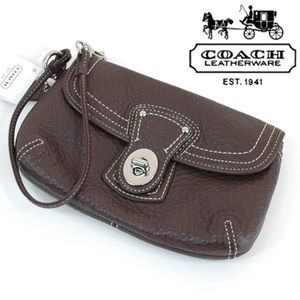 COACH Legacy Flap leather wristlet bag NWT